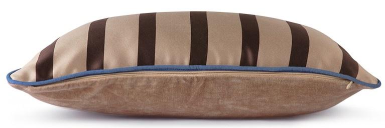 Kussen satin/velvet cushion bown/taupe  (35x50)-2