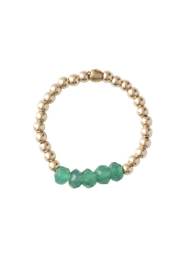 Ring Beauty Aventurine Gold M/L