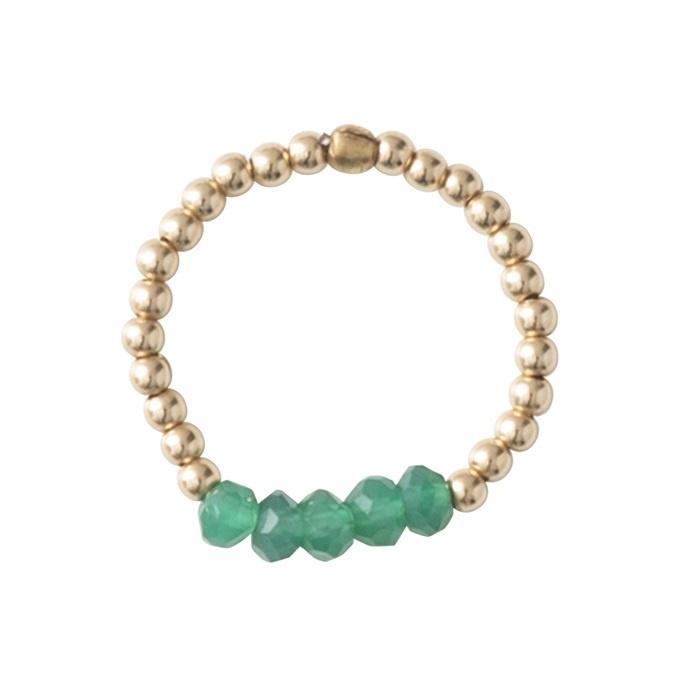 Ring Beauty Aventurine Gold M/L-3