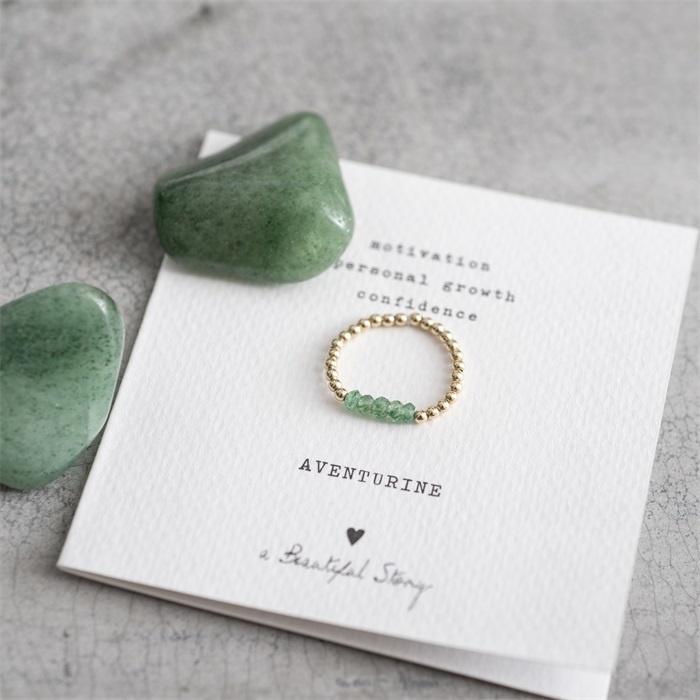 Ring Beauty Aventurine Gold M/L-2