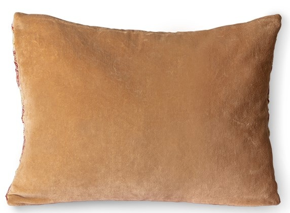 Kussen floral jacquard weave cushion burgundy/yellow (40x30)-5