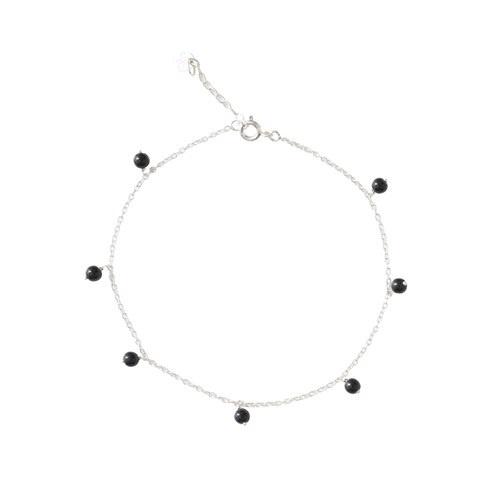 Enkelbandje Adore Black Onyx Sterling Silver-1