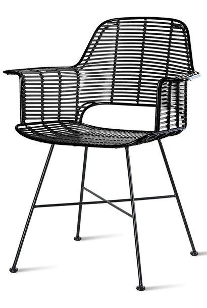 Stoel outdoor tub chair black