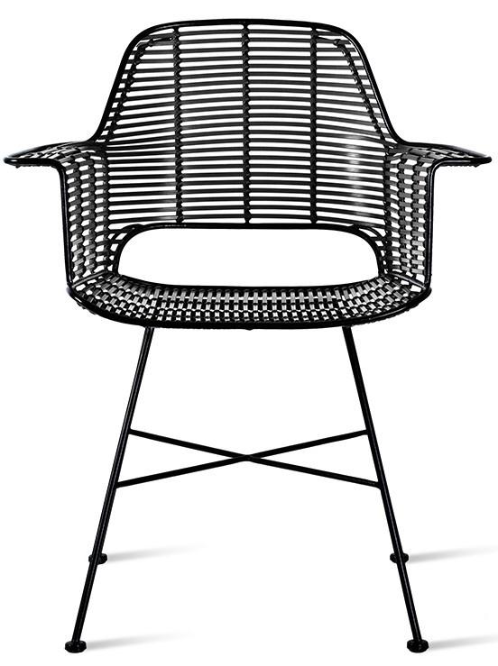 Stoel outdoor tub chair black-3
