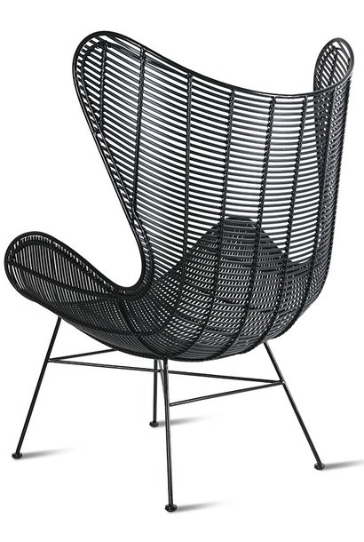 Stoel outdoor egg chair black