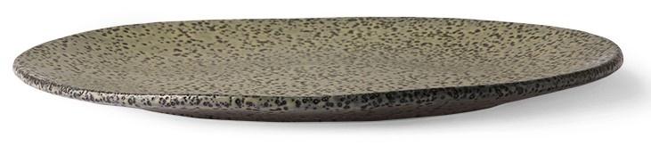 Bord gradient ceramics dinner plate  green-3