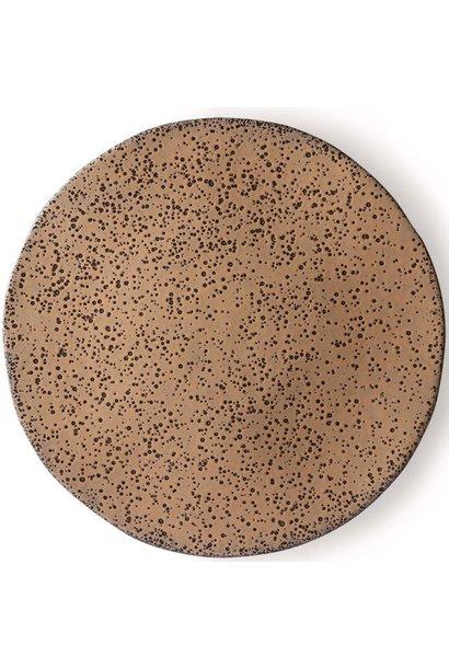 Bord gradient ceramics dinner plate  taupe