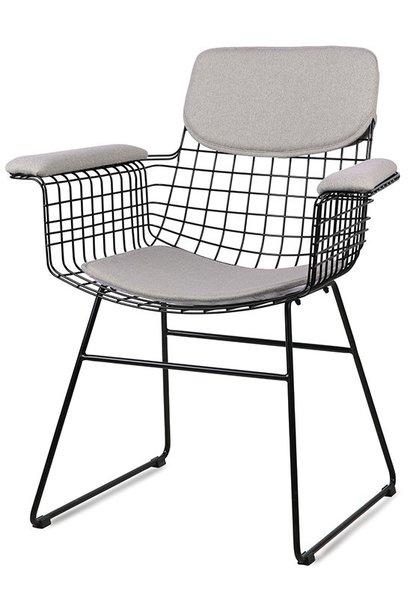 Stoel wire armchair comfort kit pebble