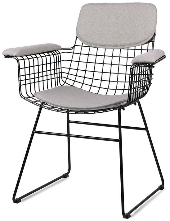 Stoel wire armchair comfort kit pebble-1