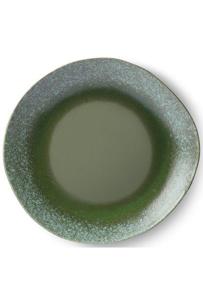 Bord ceramic 70's dinner Green