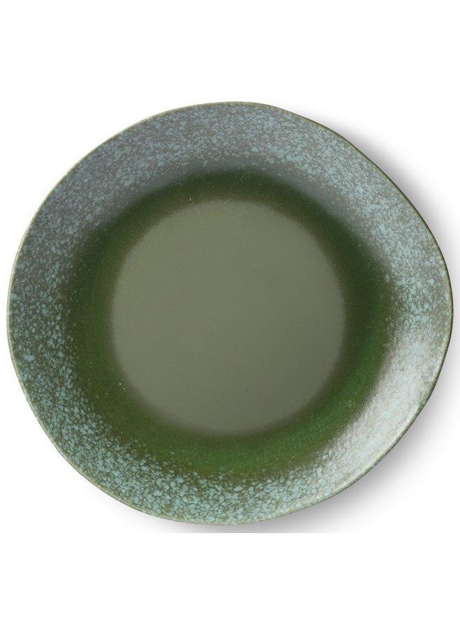 Bord ceramic dinner plate 70's Green (set of 2)