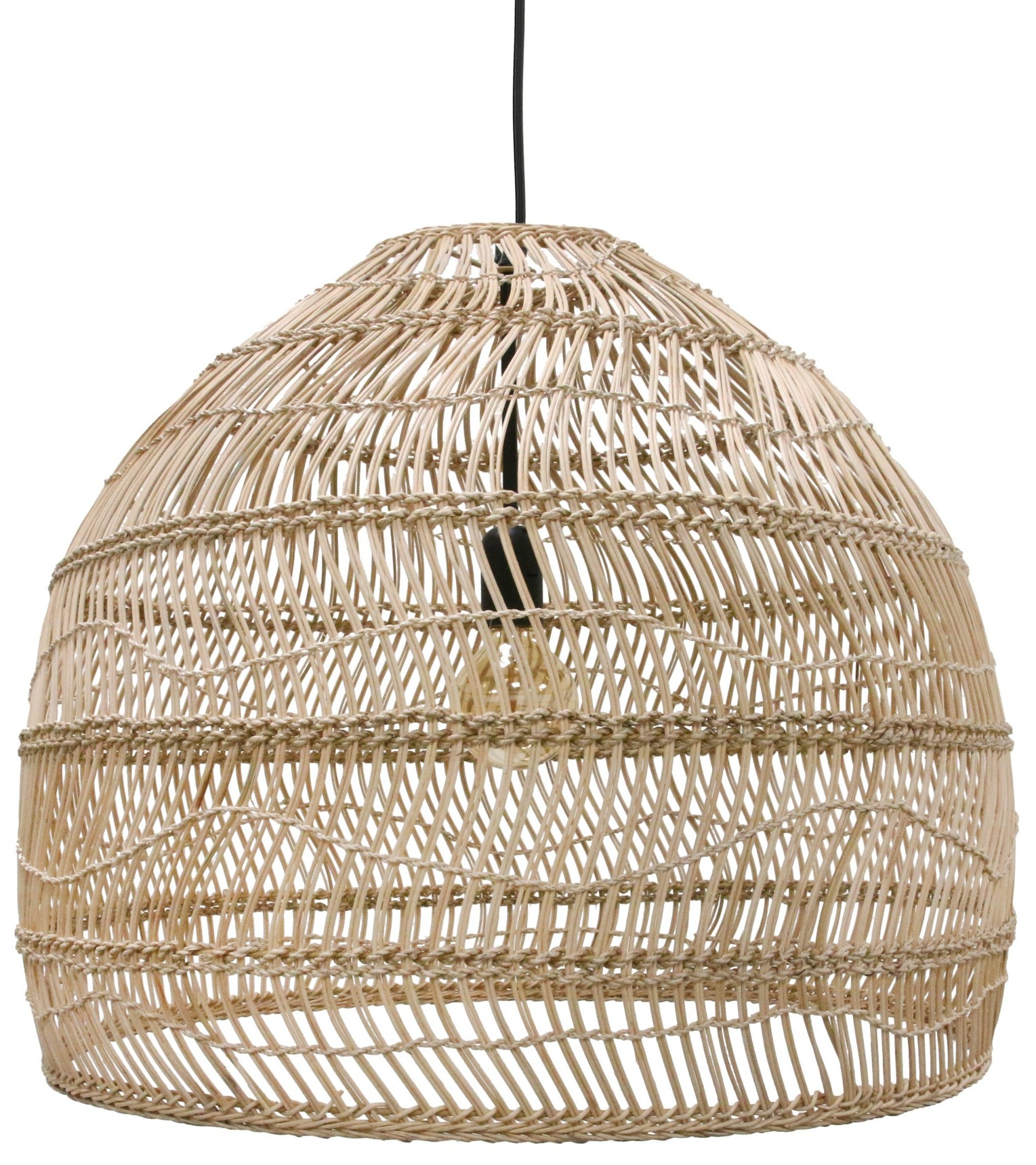 Lamp Wicker ball M Natural-1