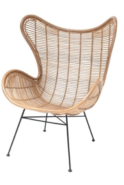 Stoel rattan egg chair natural