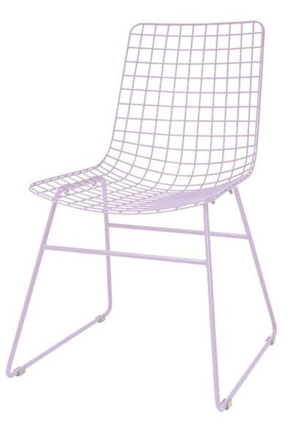 Stoel metal wire chair lilac