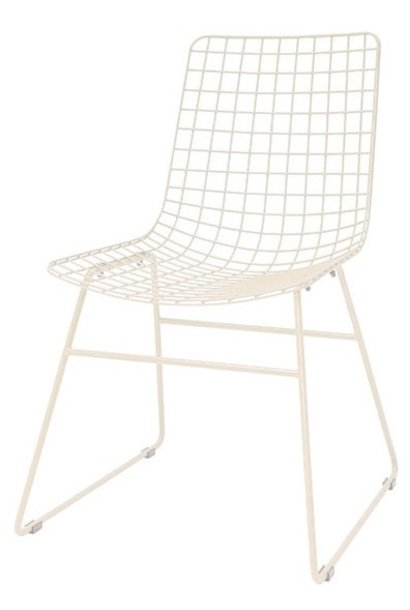 Stoel metal wire chair creme
