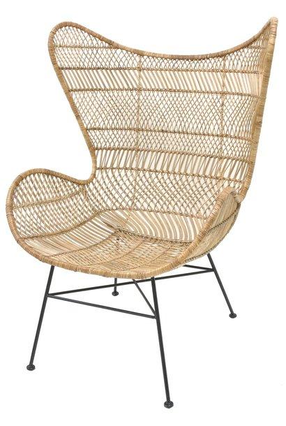 Stoel rattan egg chair natural bohemian showroom