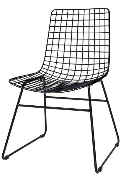 Stoel metal wire chair black