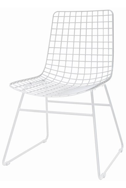 Stoel metal wire chair white