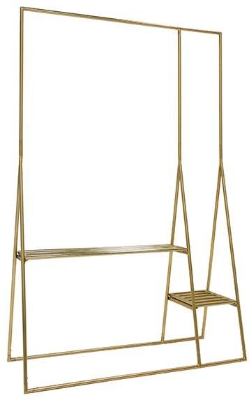 Kledingrek brass clothing rack-3