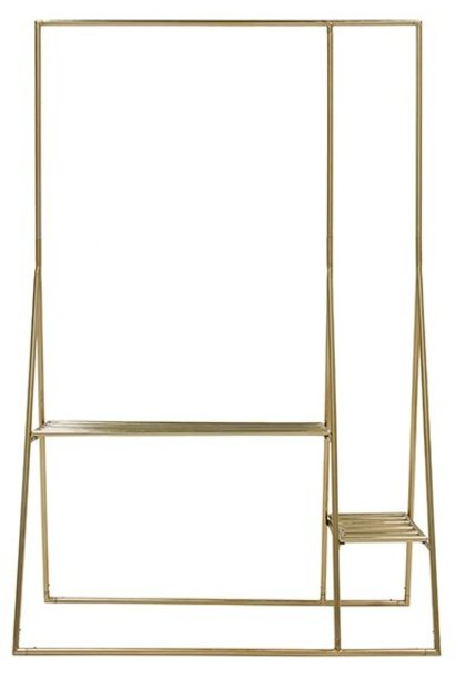 Kledingrek brass clothing rack