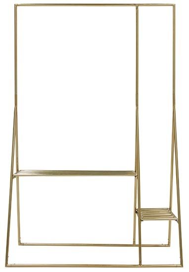 Kledingrek brass clothing rack-1
