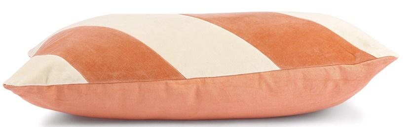 Kussen striped velvet 40x60cm Peach Cream-3
