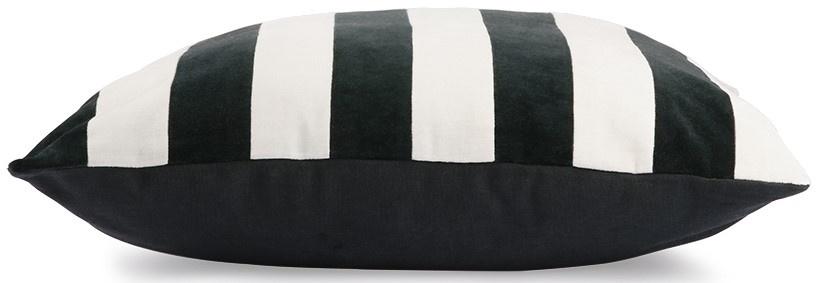 Kussen striped velvet 50x50cm Black White-3