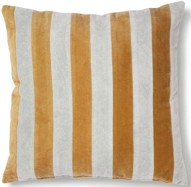 Kussen striped velvet 50x50cm Grey Gold-1