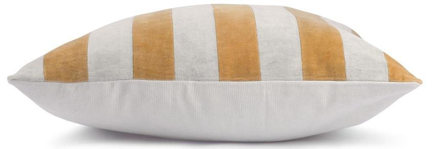 Kussen striped velvet 50x50cm Grey Gold-3