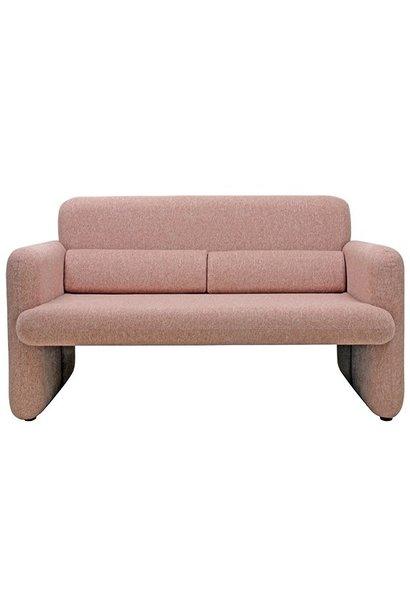 Bank studio sofa coral red