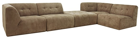 Bank vint couch: element middle, corduroy rib, brown-3