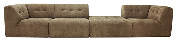 Bank vint couch: element middle, corduroy rib, brown-4