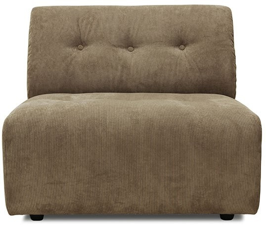 Bank vint couch: element middle, corduroy rib, brown-1
