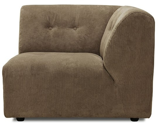 Bank vint couch: element right, corduroy rib, brown-1