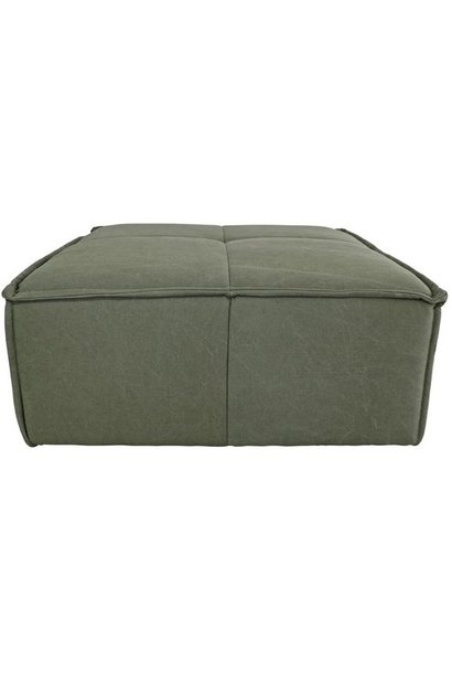 Hocker cube couch canvas army green