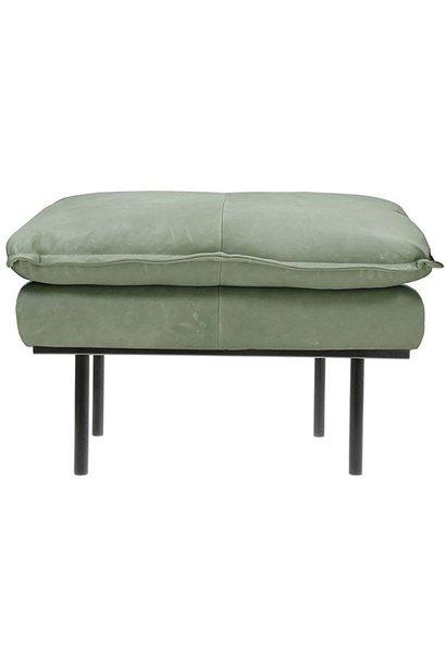 Hocker retro sofa leather mint green