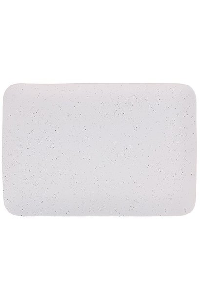 Bord ceramics speckled tray 35x24x3cm White