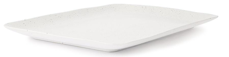 Bord ceramics speckled tray 35x24x3cm White-3