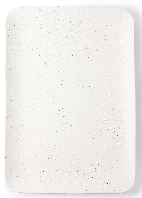 Bord ceramics speckled tray 35x24x3cm White-4