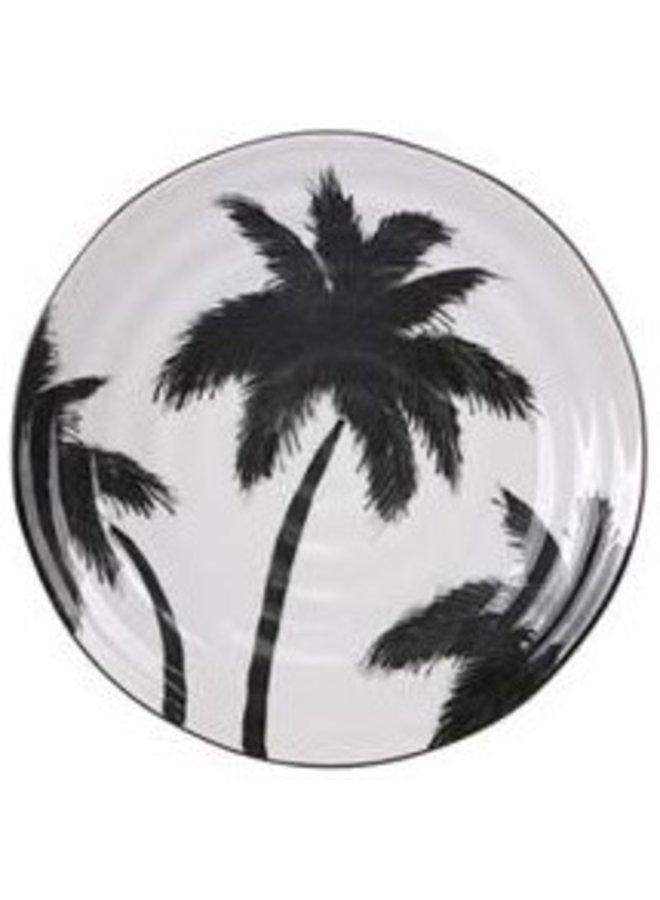 Bord bold&basic ceramics: porcelain serving plate palms
