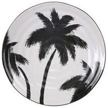 Bord ceramics porcelain palms Ø26cm White-1
