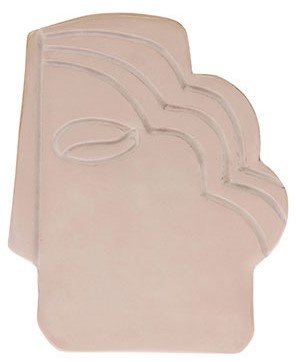 Object face wall ornament s shiny taupe-1