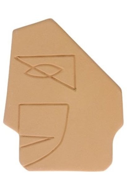 Object  face wall ornament s matt mustard yellow
