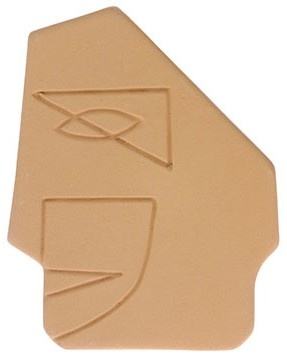 Object  face wall ornament s matt mustard yellow-1