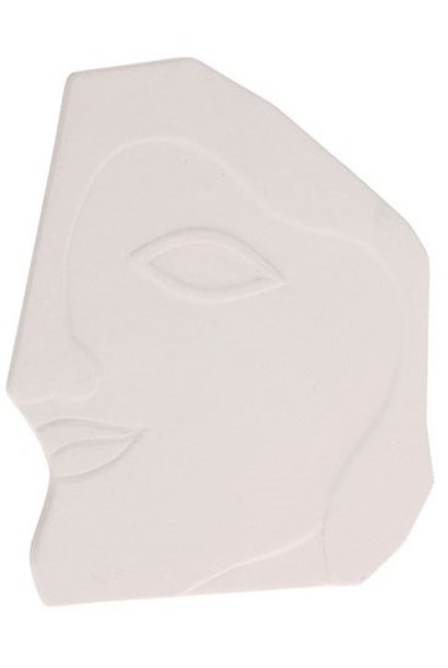 Object face wall ornament L matt white