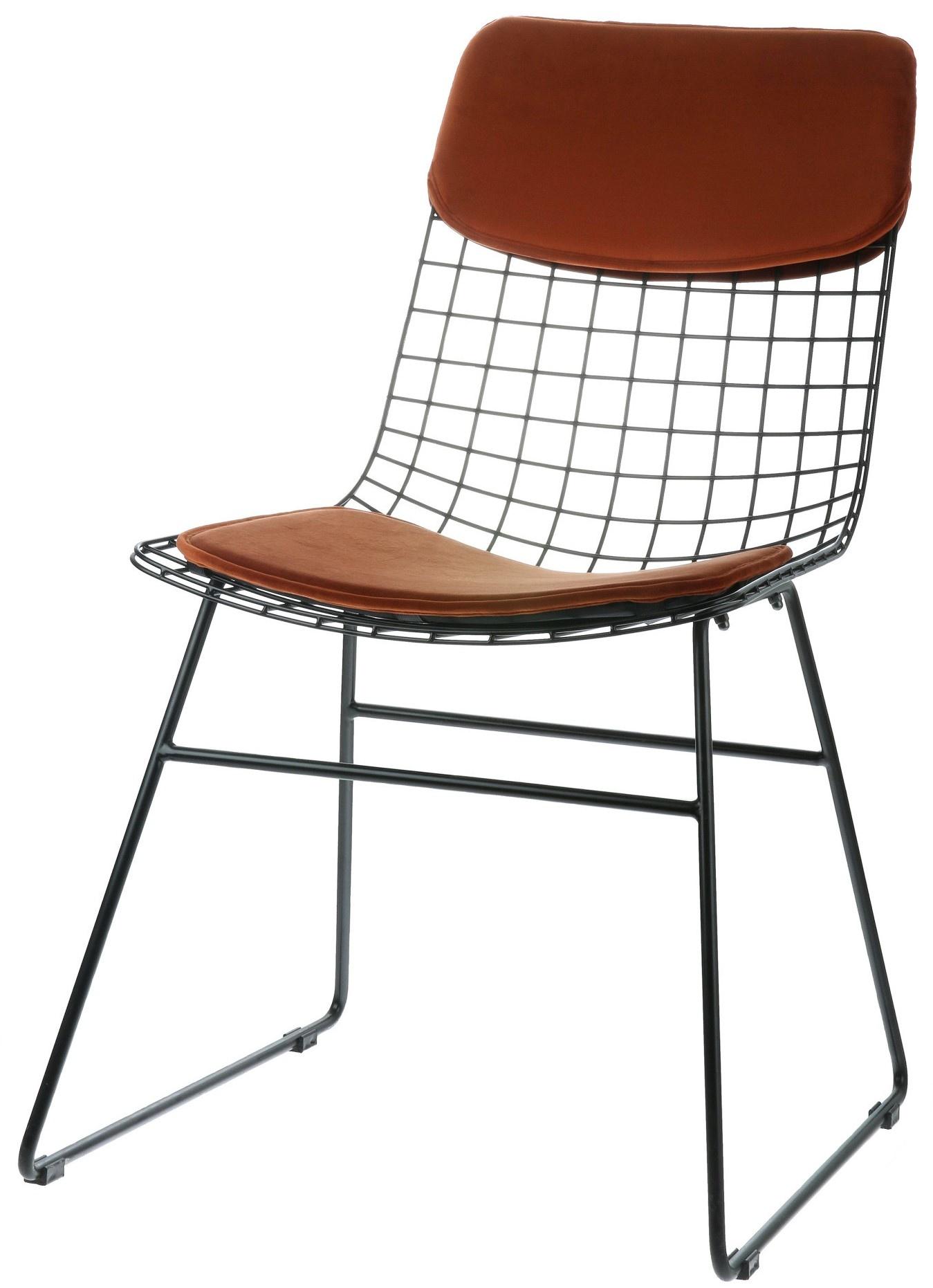 Kussens wire chair comfort kit velvet terra-3