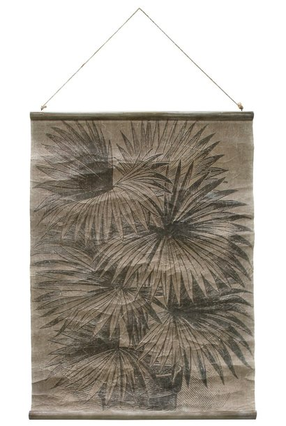 Wandposter vintage wall chart: palm leaves