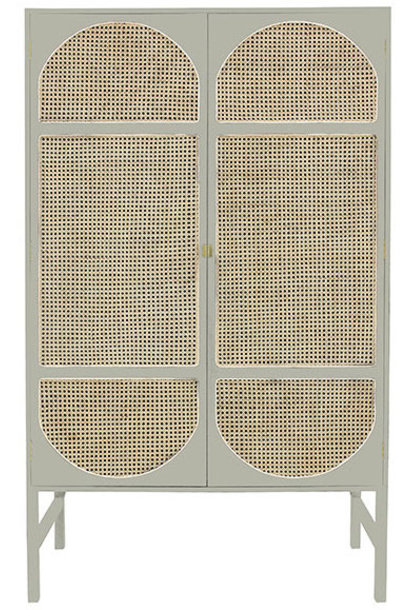 Kast retro webbing clothing cabinet light grey