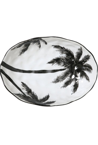 Schaal bold&basic ceramics: porcelain serving bowl palms