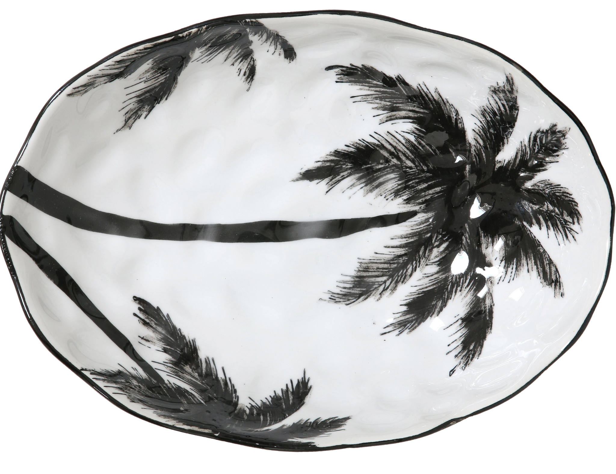 Schaal bold&basic ceramics: porcelain serving bowl palms-1